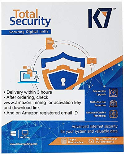 K7 Total Security – 1 PC 1 Year (Email Delivery in 2 hours – No CD)
