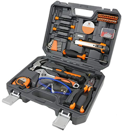 Tool Set with Tool Case – Tools For Men and Women to Get Every Job Done – Home Tool Kit For DIY and Quick Repairs – Tool Organizer Keeps Everything In Place