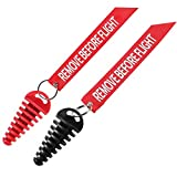 Dirt Bike Exhaust Plug, 0.6'-1.5' Muffler Exhaust Wash Plug for Motorcycle Dirt Bike 2 Stroke with Keychain Tag (2 Pack) -Red&Black