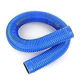 Manguera de Alambre de Acero Azul de PVC Tubo de ventilación Suave Corrugado Tubo de Escape de succión de Polvo Tubo de Escape de Polvo Tubo de Escape de Humo Industrial