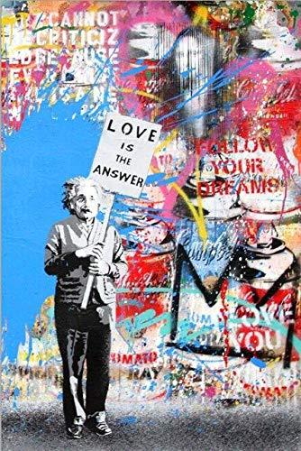 wjwei Love Is Answer Wall Graffiti Art Canvas Prints Street Pop Art...