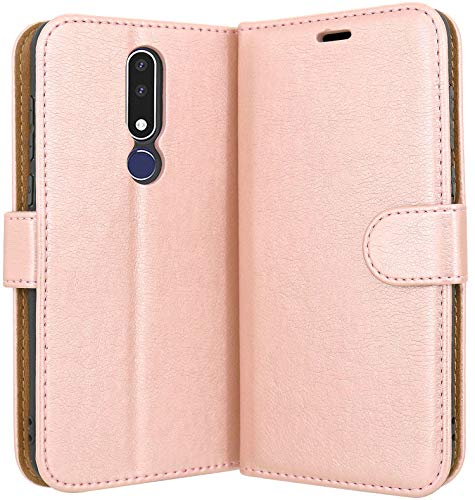 "Case Collection Custodia per Nokia 3.1 Plus Cover (6,0"") a Libretto in Pelle di qualità Superiore con Slot per Carte di Credito per Nokia 3.1 Plus Custodia"