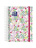 Agenda Escolar 2021/2022 Oxford Blossom, Dia Página, Tapa Extradura, 8º (12x18 cm), Floral Fucsia