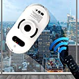 Enwebalay Automatic Window Cleaner, Glass Cleaning Tool Remote Control, Window Cleaning Robotic Vacuums Sensitive for High-Rise Buildings, Indoor and Outdoor, Safety