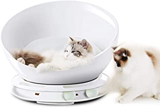 HappyCat Cat Bed,Luxury Felt Cat Cave Bed for Small&Big Pets,Plastic Cat Bed with Playing Ball,Luxury Cat & Dog Bed