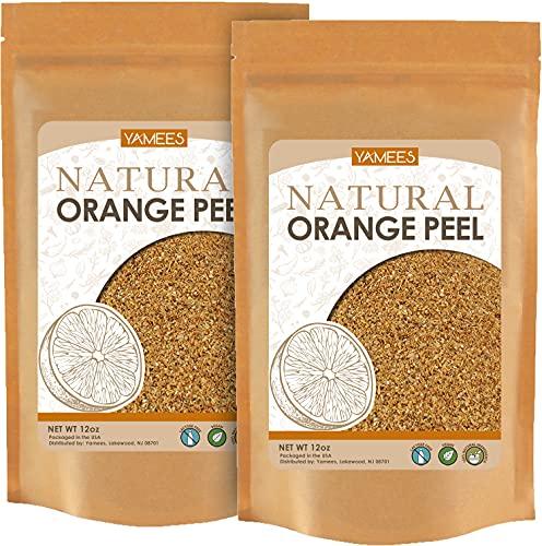 Yamees BULK Grated Orange Peel - 24 Oz (12 Oz Each) – Orange Zest Dried for Teas & Cooking – Orange Peel Granules