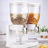 #11 Müslispender doppelt Cerealienspender mit 2 Behältern je 3,5 Liter Weiß Müsli Cornflakes...