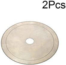 Join Ware 2Pcs 4 Inch 110 mm Super Thin Continuous Rim Diamond Saw Blade Cutting Wheel for Gem, Crystal, Agate, Jade 4/5