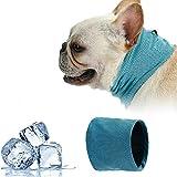 Collar Refrigerante Perro,Bandana de Enfriamiento para Perro,Collar Refrigerante para Mascotas,Pañuelo De Enfriamiento con Hielo De Bandana Mascotas, Collar de Enfriamiento para Perros, L