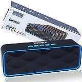 Altavoz portátil Bluetooth 5.0 TUATECH, 12 vatios, Altavoz Bluetooth con micrófono, USB, Tarjeta TF, AUX, Radio, alimentación estéreo. Altavoz para Smartphone, Dura 9 Horas, Batería 1200mah, Azul