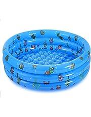 Jsdoin Opblaasbaar zwembad opvouwbaar kinderen kinderbadje huisdier buiten zwembad voor achtertuin thuis, tuin, zomer veiligheid antislip buiten bad