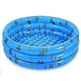 Jsdoin Piscina inflable plegable para niños, piscina para niños, piscina al aire libre para patio trasero, jardín, seguridad de verano antideslizante bañera de baño al aire libre
