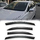 Deebior 4pcs Dark Smoke Outside Mount Style Sun Rain Guard Vent Shade Window Visors Wind Deflectors For 2013-2019 VW Golf 7 5Dr GOLF2013