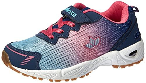 Lico Flori VS Mädchen Sneaker, blau/rosa, 31 EU
