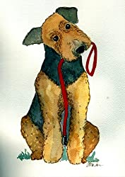 image of an airedale terrier art print