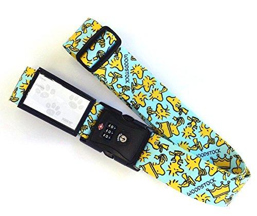 日本製 Woodstock (ウッドストック) 総柄 TSAロック 付き スーツケースベルト