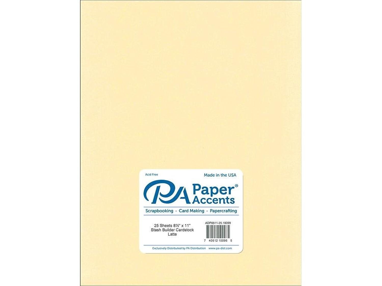 Paper Accents Cardstock 65 lb Latte Stash Builder, 8.5