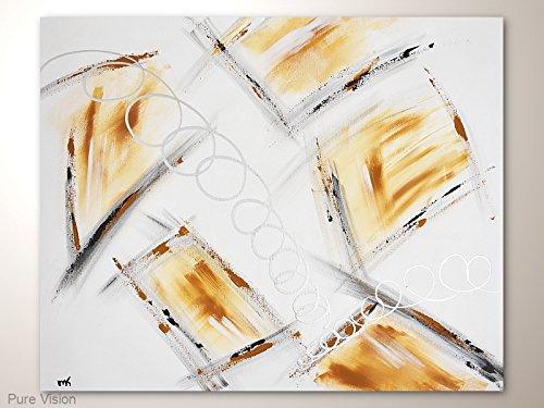 Acrylbild abstrakt im Grossformat mit viel Weiß: