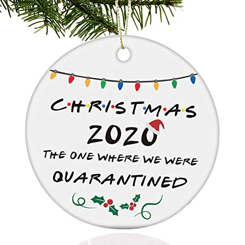 Svnntaa Two-Side Printed 2020 Ornament Our First Christmas As Mr Mrs First Christmas in Our New Home Engaged Ornaments 2020 Quarantine Ornament Christmas Ornament Gift