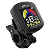 Questquo Aroma At-105 Guitar Rechargeable Clip-On Tuner Color Screen for Chromatic Guitar Bass
