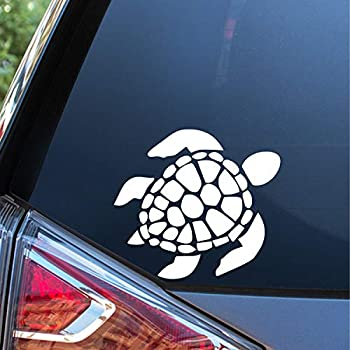 Sunset Graphics & Decals Sea Turtle Decal Vinyl Car Sticker | Cars Trucks Vans Walls Laptop | White | 5.5 inches | SGD000220