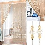AIZESI Cortina de cortina de cuentas para puerta, cortina de 90 x 200 cm