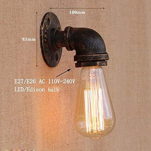 Muur Muur van de lantaarn Spotlight Loft Industrial ijzer roest Water pijp retro wandlampen Vintage E27 schans wandlampen for woonkamer slaapkamer bar, lampenkap Kleur: YY-BG804, Schepen Van: China XI