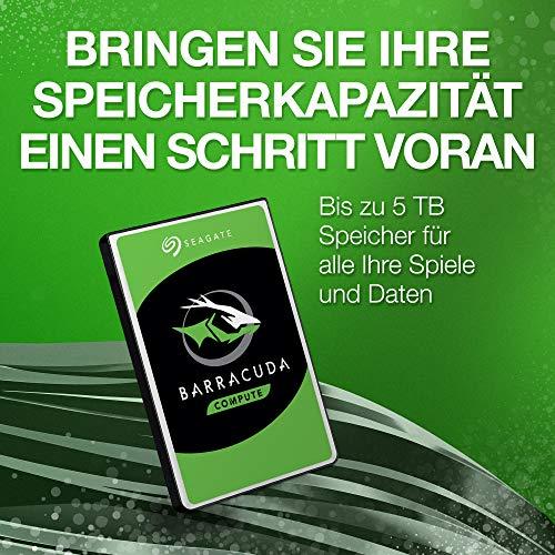 Seagate Barracuda, interne Festplatte 1 TB HDD, 2.5 Zoll, 5400 U/Min, 128 MB Cache, SATA 6 Gb/s, silber, Modellnr.: ST1000LM048