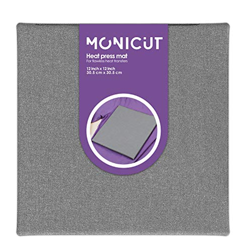 Monicut Heat Press Mat 12x12 for Cricut Easypress 2/Easypress, Heat Pressing Mat for Craft Vinyl Ironing Insulation Transfer