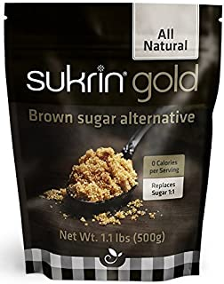 Sukrin Gold All Natural Low calorie sweetener alternative to Brown Sugar with 98% less calories than sugar (500g)