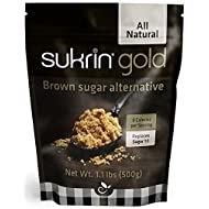 Sukrin Gold - Natural Brown Sugar Alternative - No Calorie Sweetener for Keto, Low Carb and Diabetic Diets - 1.1 lb Bag (1 Pack)