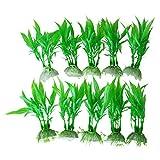 Katigan 10 x Plantas Hierbas Verdes de Plastico para Acuario