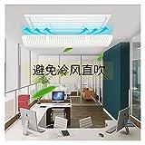Deflettore centrale aria condizionata Central Air Conditioning Windshield Outlet guida Air Board Board Office Casa Condizionatore d'aria Condizionatore d'aria Condizionatore Durevole e pratico può ess