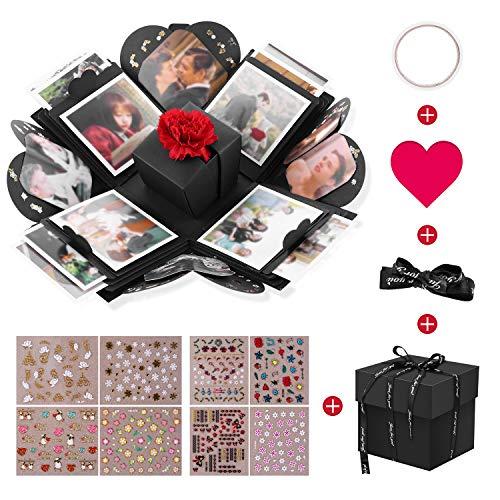 VPCOK Explosion Box, DIY Álbum de Fotos, Caja de Regalo para Cumpleaños Día de San Valentín Aniversario Navidad, Caja de Fotos, Creativa Explosión Caja