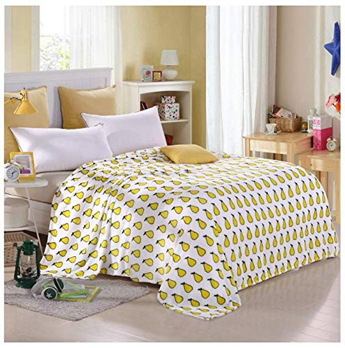 VYEKL Bettdecke Decke Sofa/Bett/Auto Tragbare Schottenkaro-Decke Unglaublich weich & bequem 150 * 200Cm