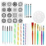 DaysAgo - Juego de 40 herramientas de punteado de mandala, kit de pintura de puntos, para regalo