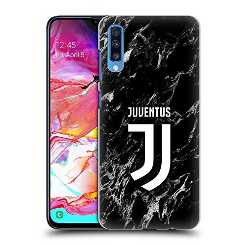 Head Case Designs sous Licence Officielle Juventus Football Club Noir Marbre Coque Dure pour l'arrière Compatible avec Samsung Galaxy A70 (2019)