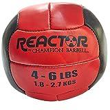 Champion Barbell Medicine Ball, 4-6 lb. - Red