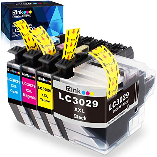 E-Z Ink (TM) Compatible Ink Cartridge Replacement for Brother LC3029 XXL LC3029BK LC 3029 to use with MFC-J5830DW MFC-J5830DWXL MFC-J5930DW MFC-J6535DW MFC-J6535DWXL MFC-J6935DW (4 Pack)