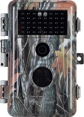 BlazeVideo Cámara de Caza 20MP 1080P IP66 Impermeable 36 LED de IR Invisible 2.31'' LCD Visión Nocturna hasta 70Ft/21m para Fauna Seguridad Hogar Mascota Animal