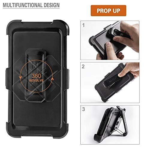 iPhone 6 Plus Case, iPhone 6s Plus Defender Case with Belt Clip, Kickstand, Holster, Heavy Duty, Built-in Screen Protector Rugged Rubber Case Compatible with iPhone 6 Plus/6s Plus(5.5