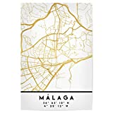 artboxONE Poster 30x20 cm Städte Malaga Spain Street MAP