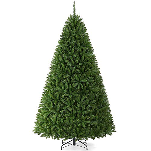 YAHEETECH 7.5ft Premium Unlit Artificial Douglas Full Fir Christmas Tree with 2326 Branch Tips and Foldable Stand