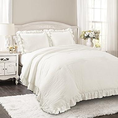 Lush Decor Lush Décor Reyna 3 Piece Comforter Set, Full/Queen, White