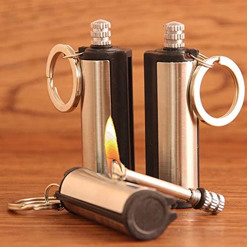 Harddo Elektro-Feuerzeug, Notfall-Feueranzünder Permanent Match Schlüsselanhänger wasserdicht Feuerzeug Wandern Match Feuerzeug Feueranzünder Schlüsselanhänger