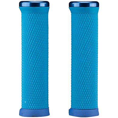 ODI Unisex Odi MTB Elite Motion Lock On 2.1 Azul Claro, 130 mm, Anillos de sujeción Azules, Mangos D33mtu-U, Color Azul Claro, UE