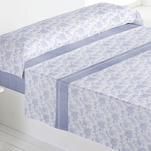 Barceló Hogar 03020310226 Juego de sábanas de franela, modelo Agatha, gris, 90 cm