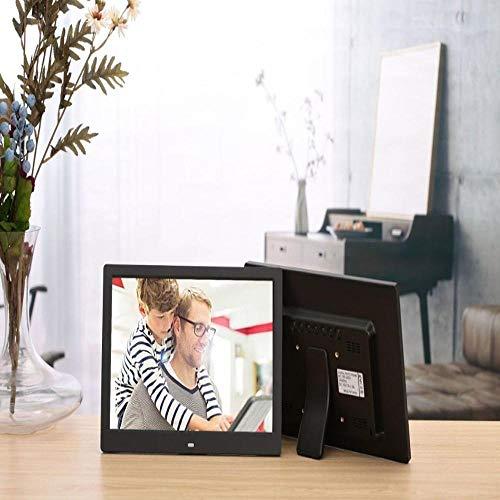 12-Zoll-Unterstützung für Digitale Fotorahmen Vollformatige Videobilder Multifunktionales hochauflösendes Fotoalbum Schwarz