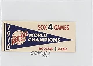 1916 Boston Redsox (Baseball Card) 1961 Fleer Baseball Greats - World Series Pennant Decals #1916