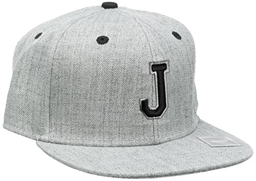 MSTRDS Unisex Letter Snapback J Baseball Cap, J Heather Grey, Large